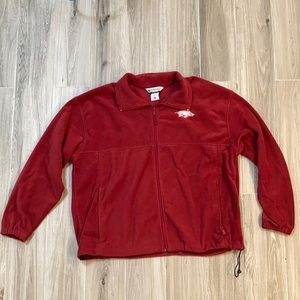 Columbia Fleece Jacket Arkansas Razorbacks XXL